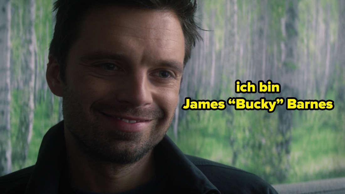 """James Buchanan Barnes, alias """"Bucky"""", erklärt mit einem Lächeln, dass er ab jetzt nicht mehr der Winter Soldier, sondern James """"Bucky"""" Barnes ist."""