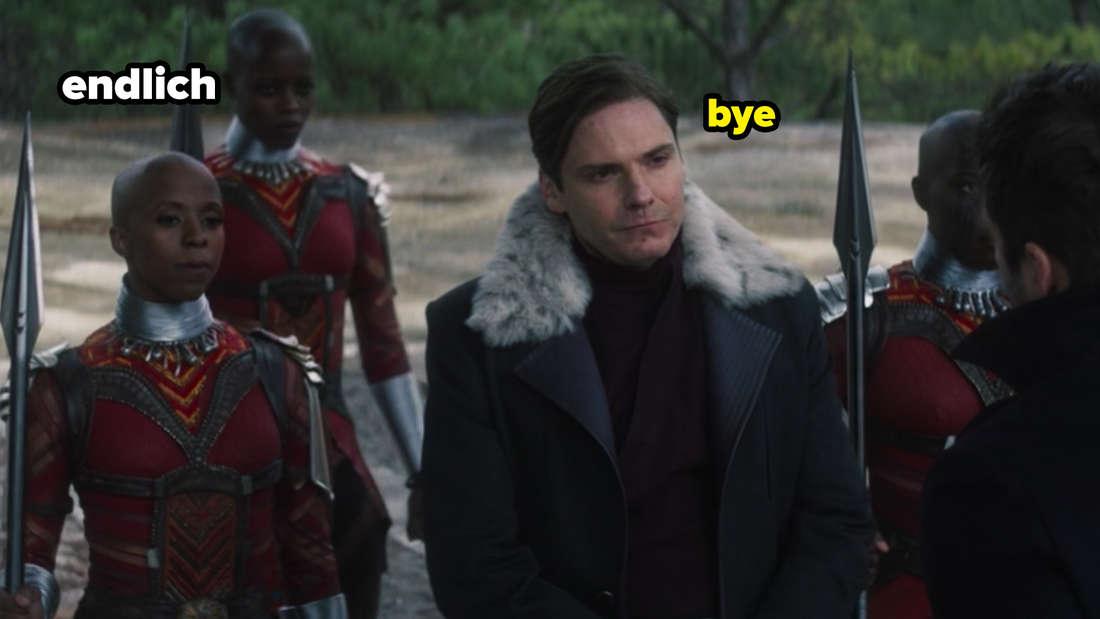 """Die Dora Milaje nehmen Zemo in der neuen Folge von """"The Falcon and The Winter Soldier"""" mit."""