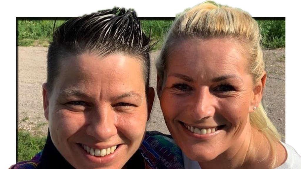 Schlagersängerin Kerstin Ott mit ihrer Frau Karolina am 31. Mai 2020 auf Instagram (Fotomontage)