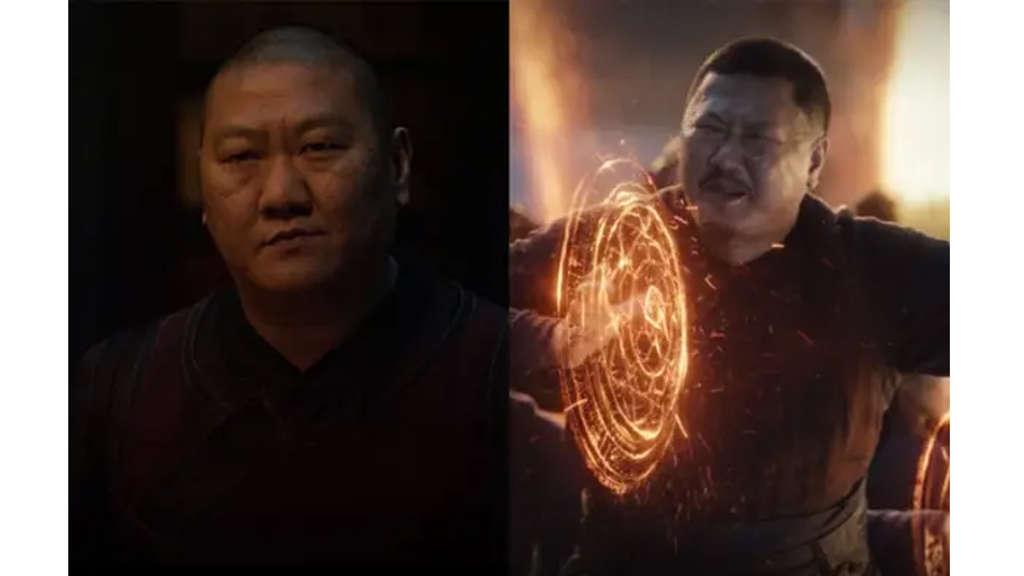 Benedict Wong als Wong - Doctor Stranges Partner im ersten Film. Und in Avengers: Endgame als er seine Kräfte einsetzt.