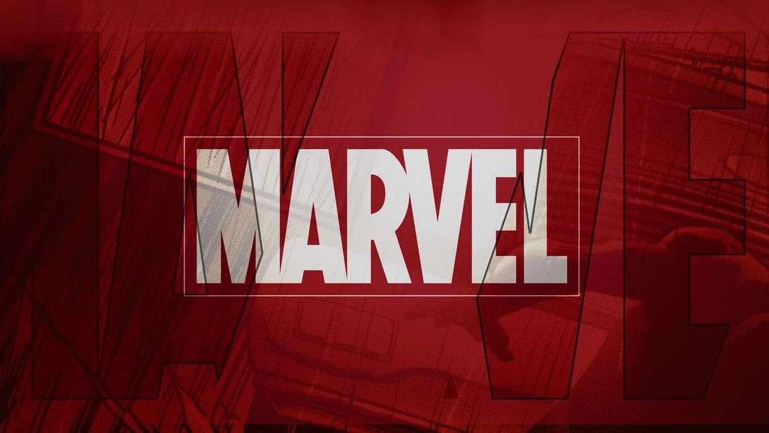 Das Marvel Logo mit weißer Schrift auf rotem Hintergrund.