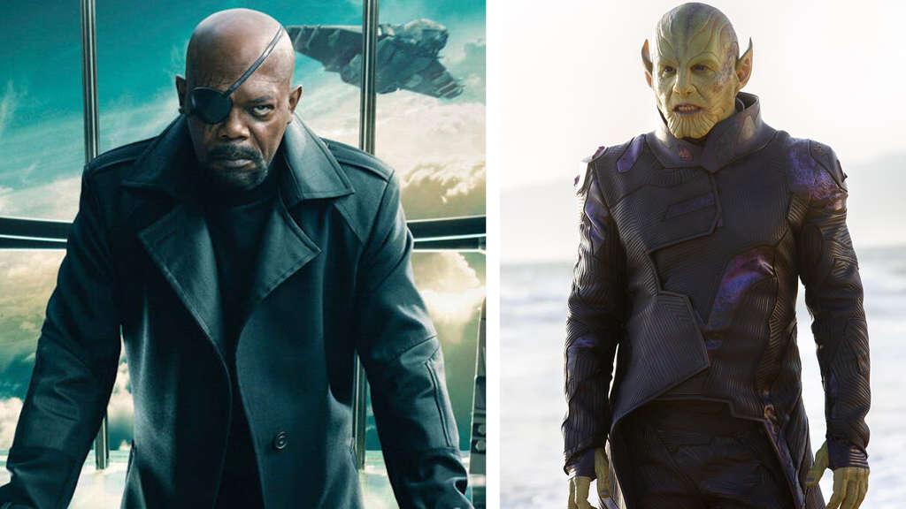 Samuel L. Jackson und Ben Mendelsohn als Nick Fury und Talos.