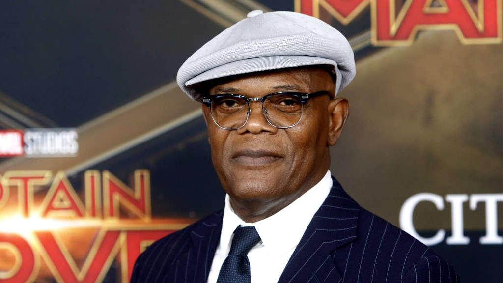 """Samuel L. Jackson auf dem roten Teppich der Film-Premiere von Marvels """"Captain Marvel."""""""
