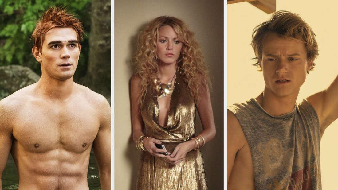 """Archie Andrews aus """"Riverdale"""", Serena van der Woodsen aus """"Gossip Girl"""" und JJ Maybank aus """"Outer Banks"""""""