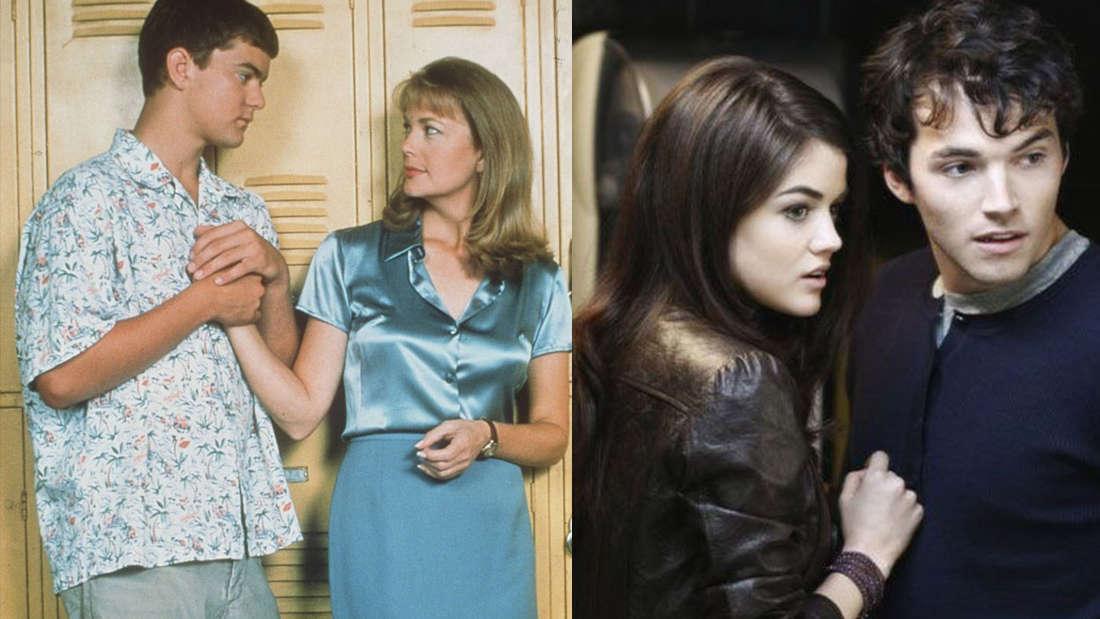 """Pacey Witter und Tamara Jacobs in """"Dawson's Creek"""" und Aria Montgomery und Ezra Fitz in """"Pretty Little Liars"""""""