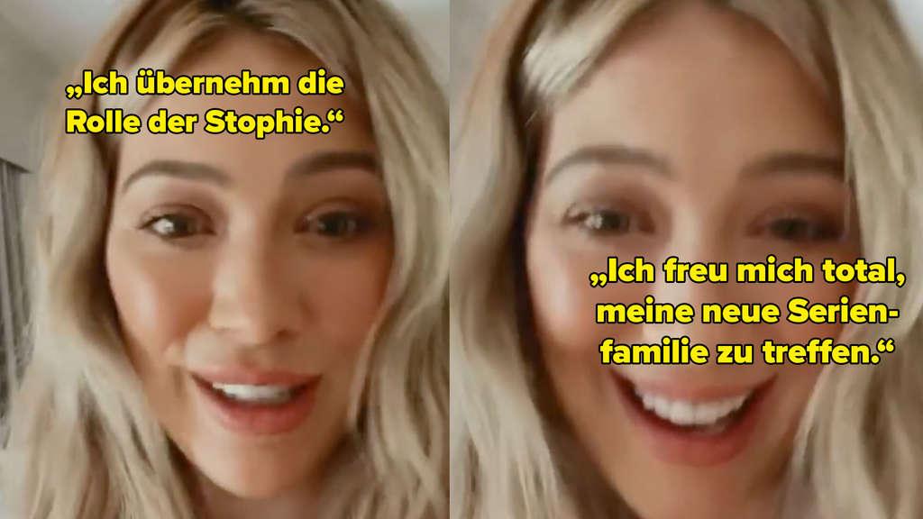 Hilary Duff, die erzählt, dass sie den Part der Sophie übernehmen wird, und sich auf ihre neue Serienfamilie freut.