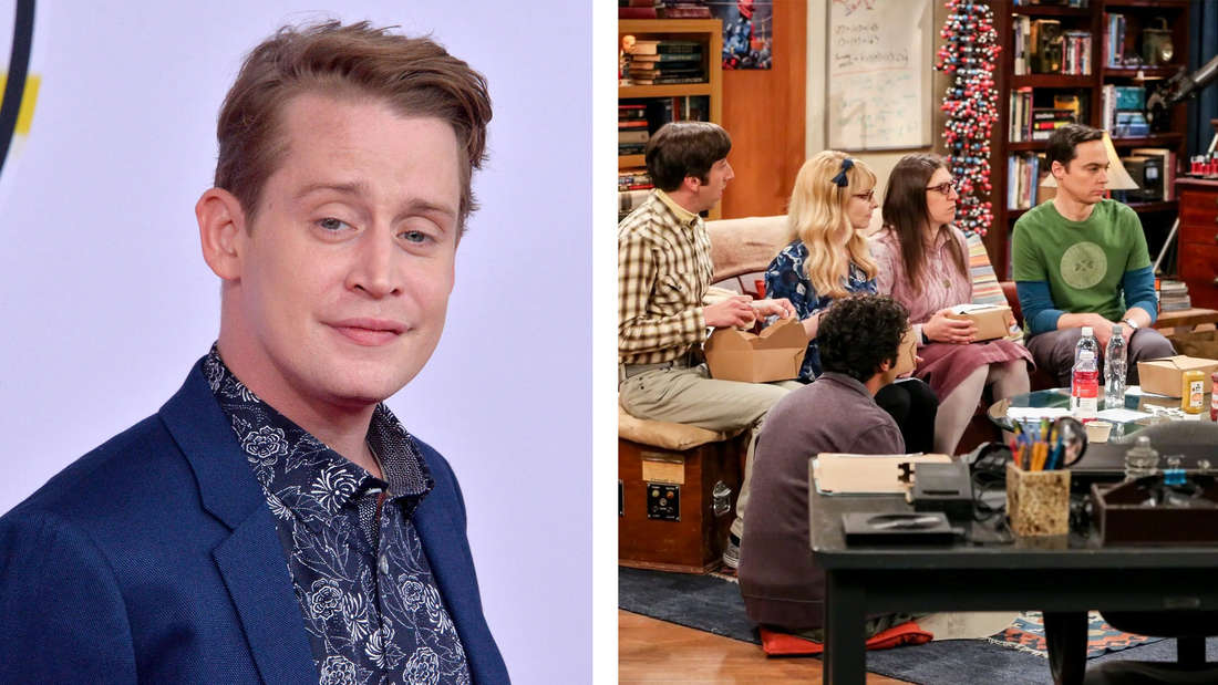 """Macaulay Culkin und die Darsteller:innen von """"The Big Bang Theory""""."""