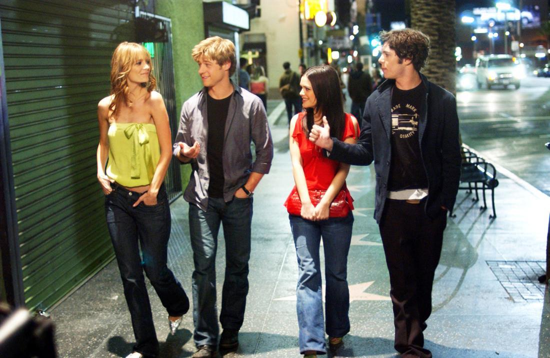 THE O.C., Mischa Barton, Benjamin McKenzie, Rachel Bilson, Adam Brody, The LA , (Season 1), 2003-2007. WB / Courtesy: Ev