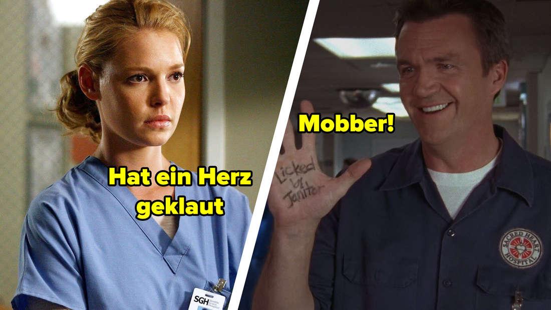 """Izzie aus """"Greys Anatomy"""" und der Hausmeister aus """"Scrubs - Die Anfänger"""""""