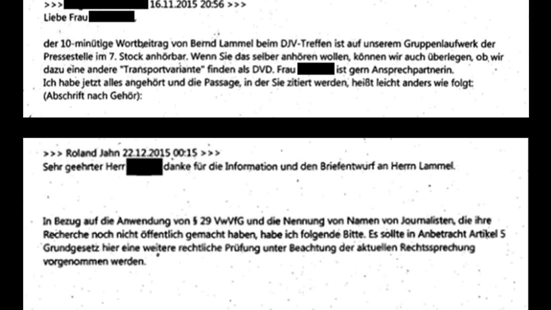 Auszüge aus internen Mails der Stasi-Unterlagenbehörde.