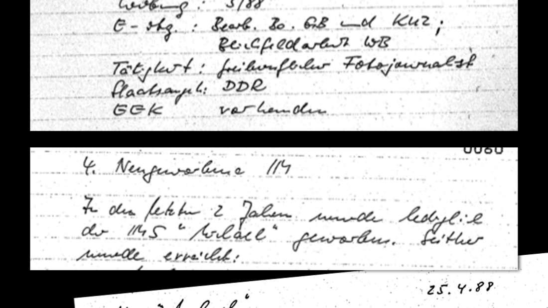 Auszüge aus Stasi-Unterlagen