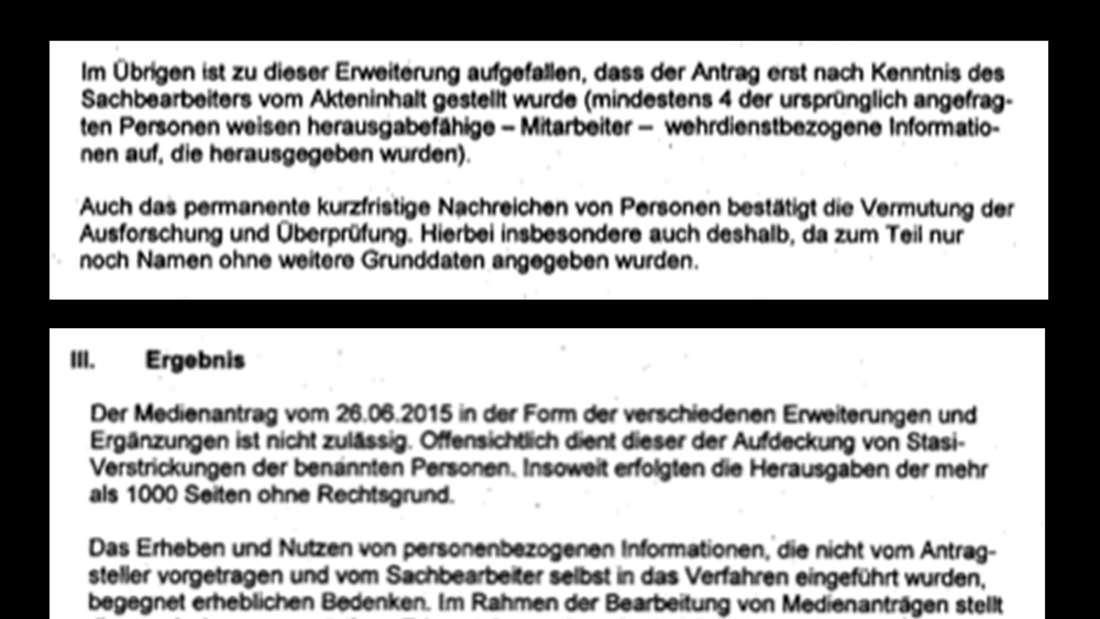 Die interne Prüfung der Stasi-Unterlagenbehörde lässt keinen Zweifel zu: Der gesamte Vorgang war unrechtmäßig.