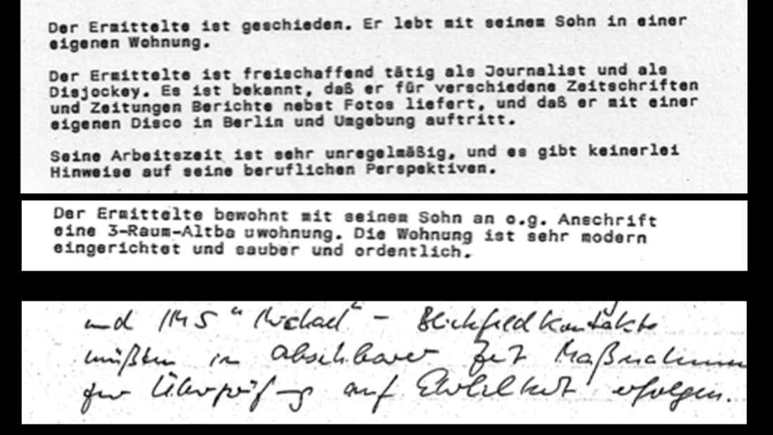 """Bernd Lammel wurde auch von der Stasi überwacht. Seine Post, seine Wohnung – und """"Maßnahmen zur Überprüfung der Ehrlichkeit"""", notiert der Führungsoffizier."""