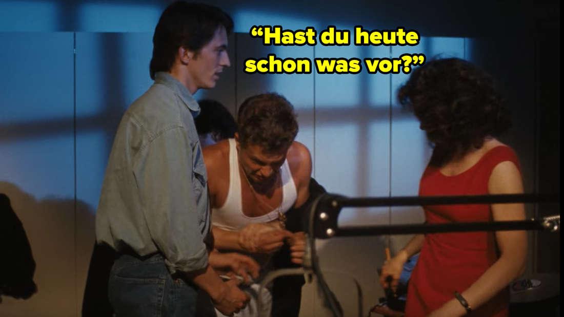 Gerd fragt die Käfer-Lady, ob sie ausgehen wollen.