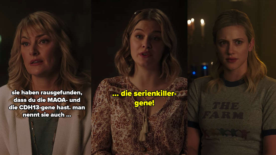 Alice und Polly erzählen Betty, sie habe Serienkiller-Gene.