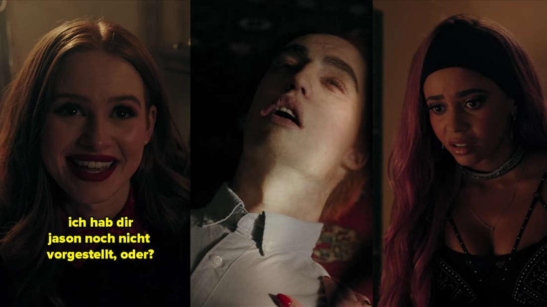 Cheryl zeigt Toni die Leiche von Jason und fragt sie, ob sie ihr schon Jason vorgestellt habe.