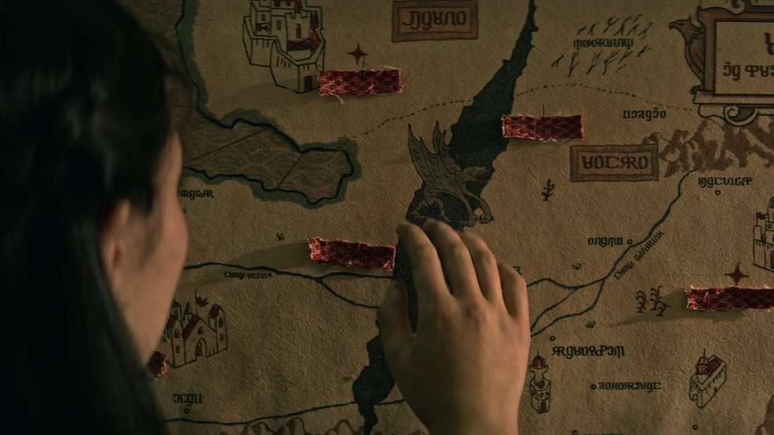Eine Karte von Ravka mit der Schattenflur in der Mitte