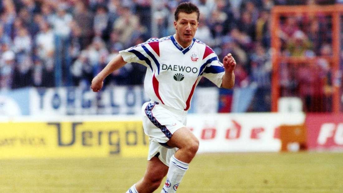 André Hofschneider im Trikot von Hansa Rostock.