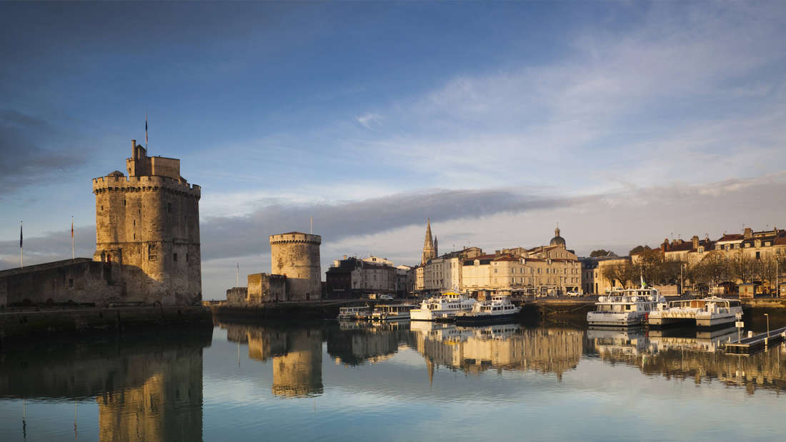 Der alte Hafen im französischen La Rochelle, Poitou-Charentes Region, Charente-Maritime Department
