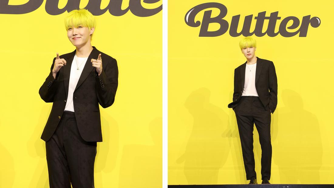 Jung Hoseok bei der Pressekonferenz für Butter.
