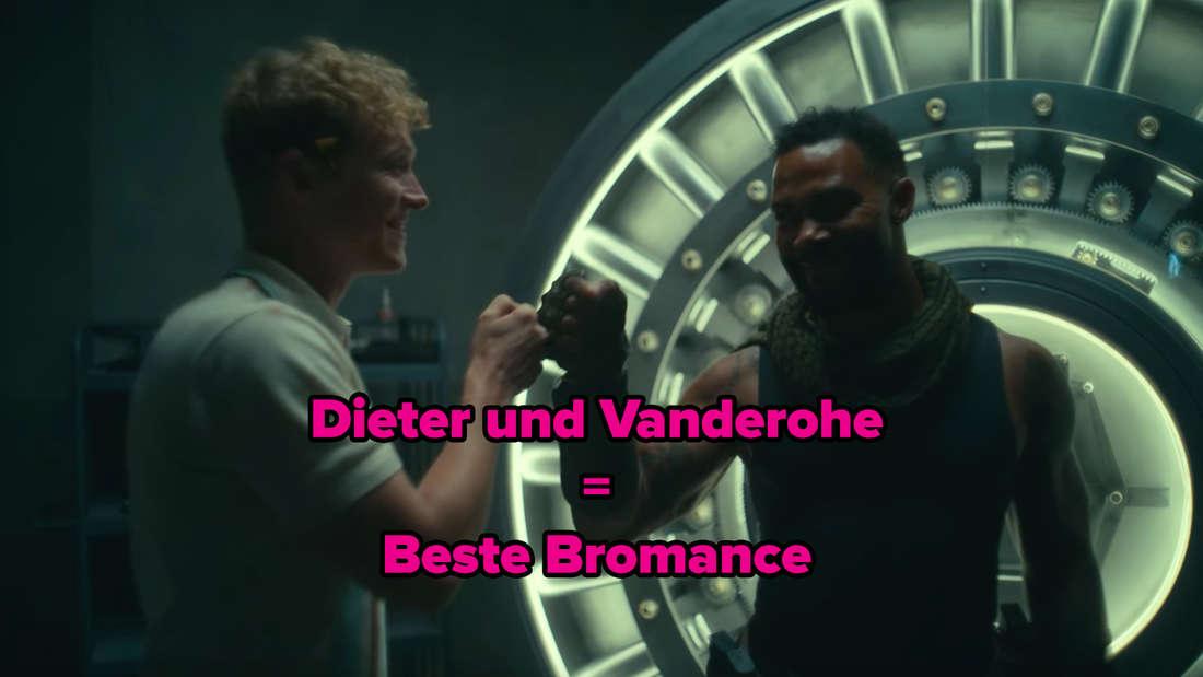 Vanderohe und Dieter geben sich im Tresor die Faust.