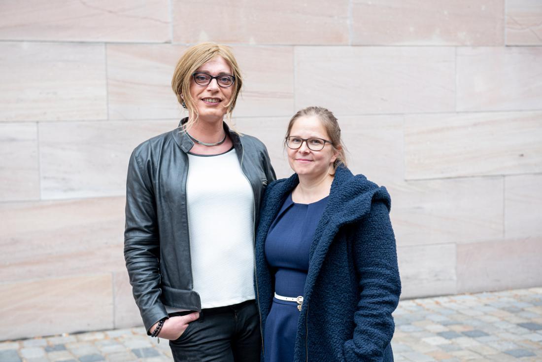 Das Ehepaar Ganserer-Eichmüller in ihrer Heimatstadt Nürnberg.