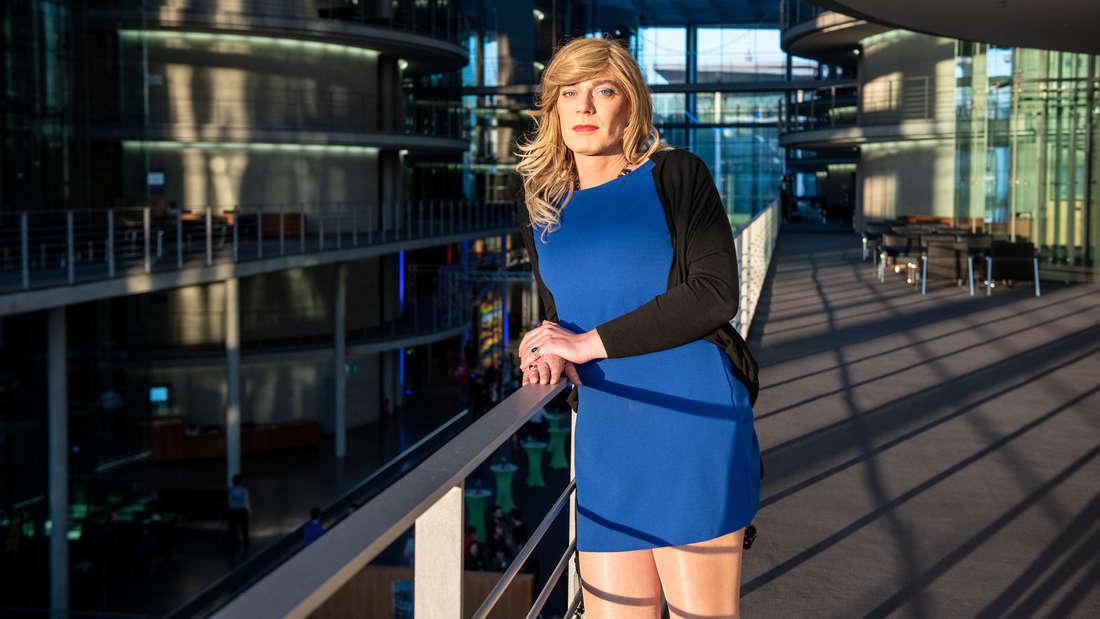 Tessa Ganserer im Deutschen Bundestag in Berlin