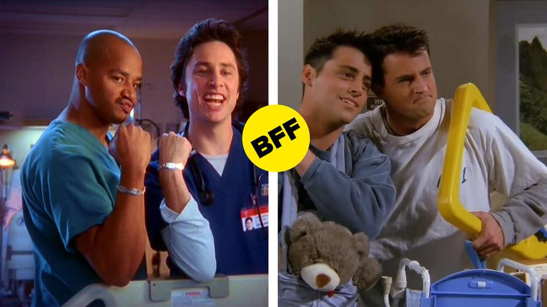 """Turk und J.D. aus """"Scrubs - Die Anfänger"""" und Joey und Chandler aus """"Friends"""""""