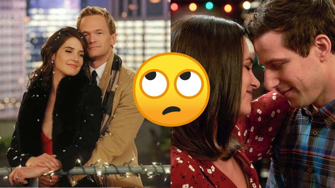 """Barney und Robin aus der Serie """"How I Met Your Mother"""" und Amy und Jake aus """"Brooklyn Nine-Nine""""."""