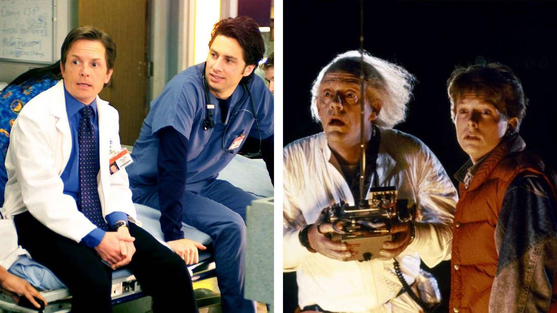 """Michael J. Fox in """"Scrubs - Die Anfänger"""" und in """"Zurück in die Zukunft"""""""