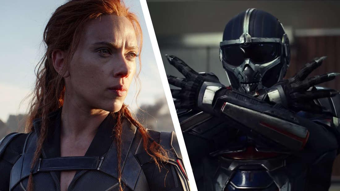 Scarlett Johansson als Black Widow und ihr Gegenspieler Taskmaster