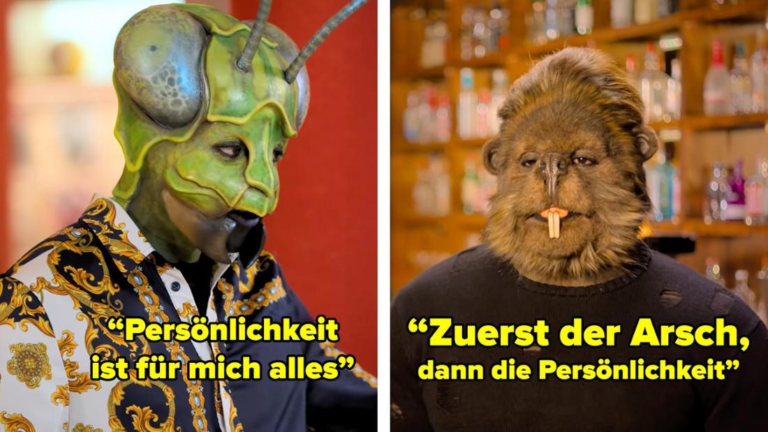 Ein Insekt sagt, dass ihm Persönlichkeit am Wichtigsten ist. Ein Bieber meint dagegen, dass der Arsch vor der Persönlichkeit geht