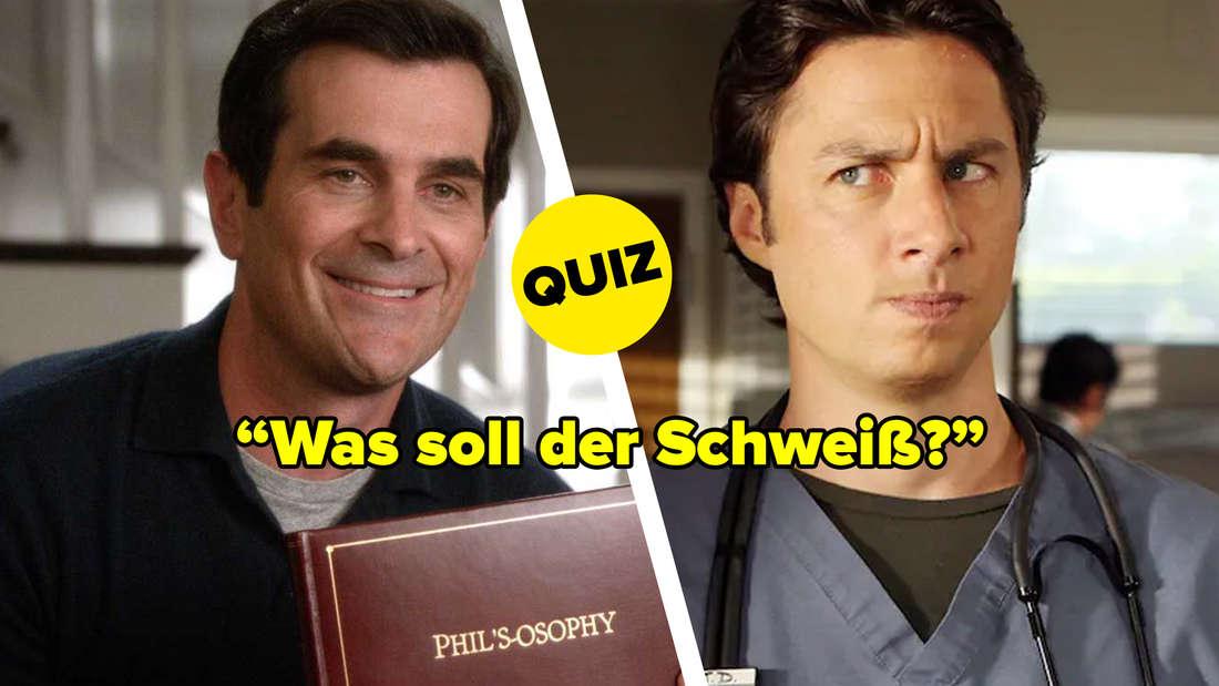 """Phil Dunphy aus """"Modern Family"""" und J.D. aus """"Scrubs - Die Anfänger"""". Zitat: """"Was soll der Schweiß?"""""""