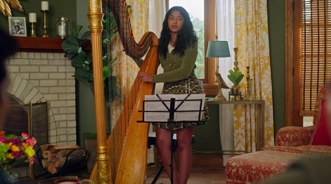 Devi und ihre Harfe