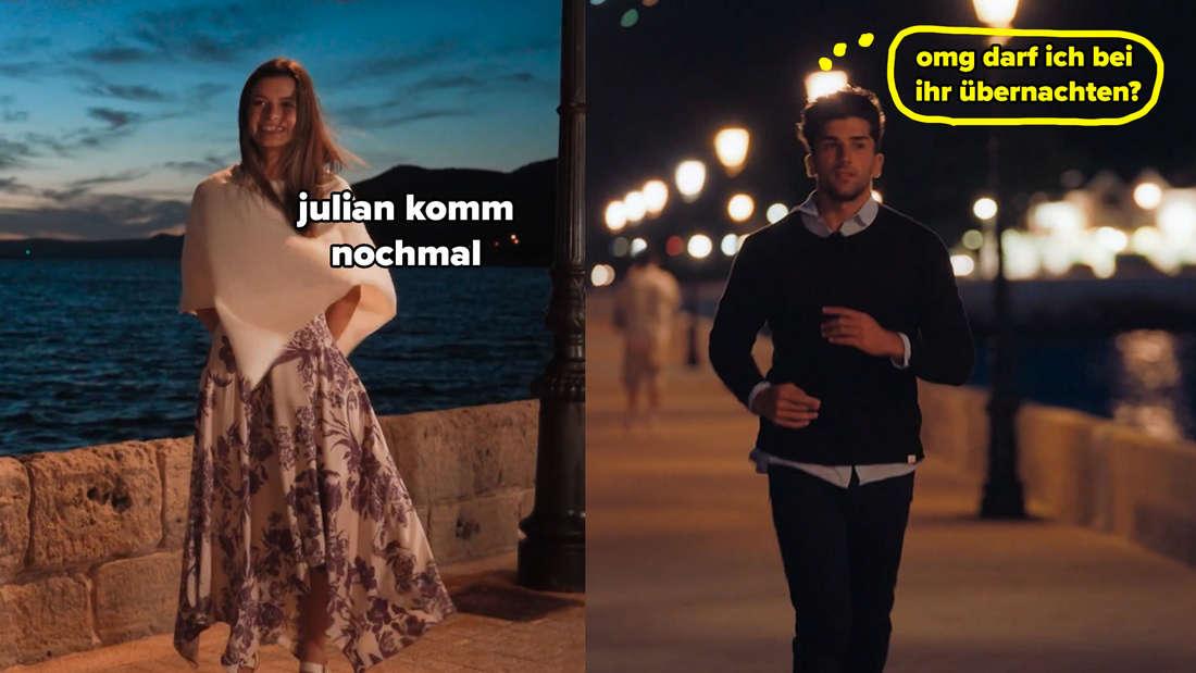 Maxime ruft Julian zurück und der fängt plötzlich an zu rennen.