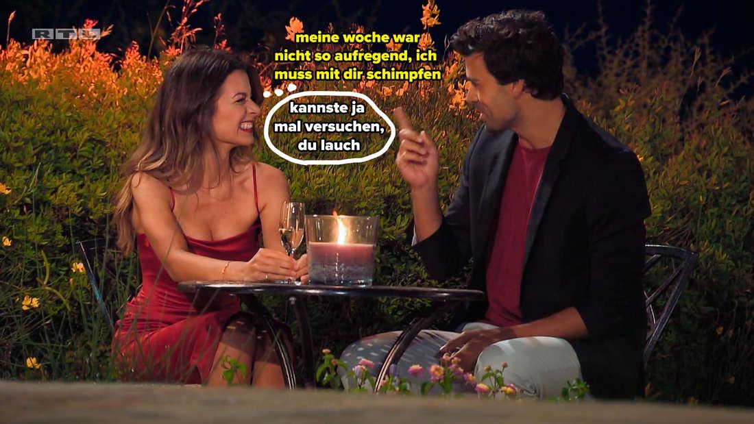 Leon beschwert sich bei Maxime, dass seine Woche nicht so gut lief (er war zu keinem Date eingeladen) und sagt, dass er mit ihr schimpfen muss.