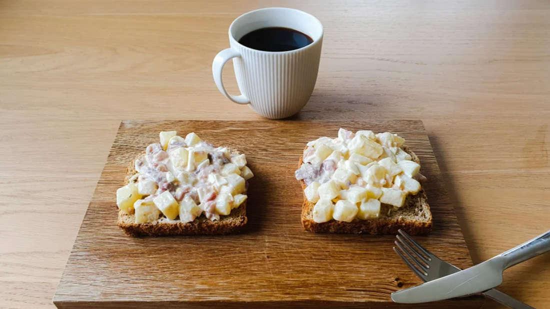 Gubbröra aus Schweden ist ein Brotaufstrich aus Kartoffeln und Fisch.
