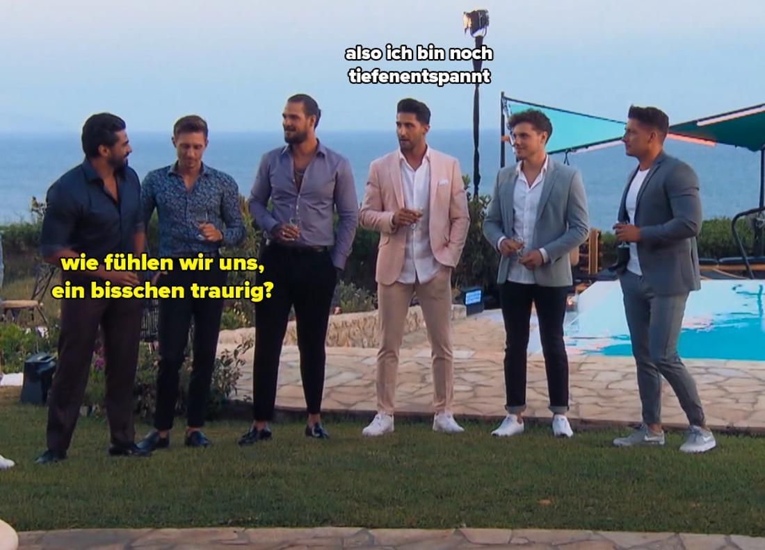 Kenan mosert, weil Maxime ihn nicht zu einem Date eingeladen hat. Er sagt er und Lorik seien traurig. Lorik wiederum sagt, er sei tiefenentspannt.