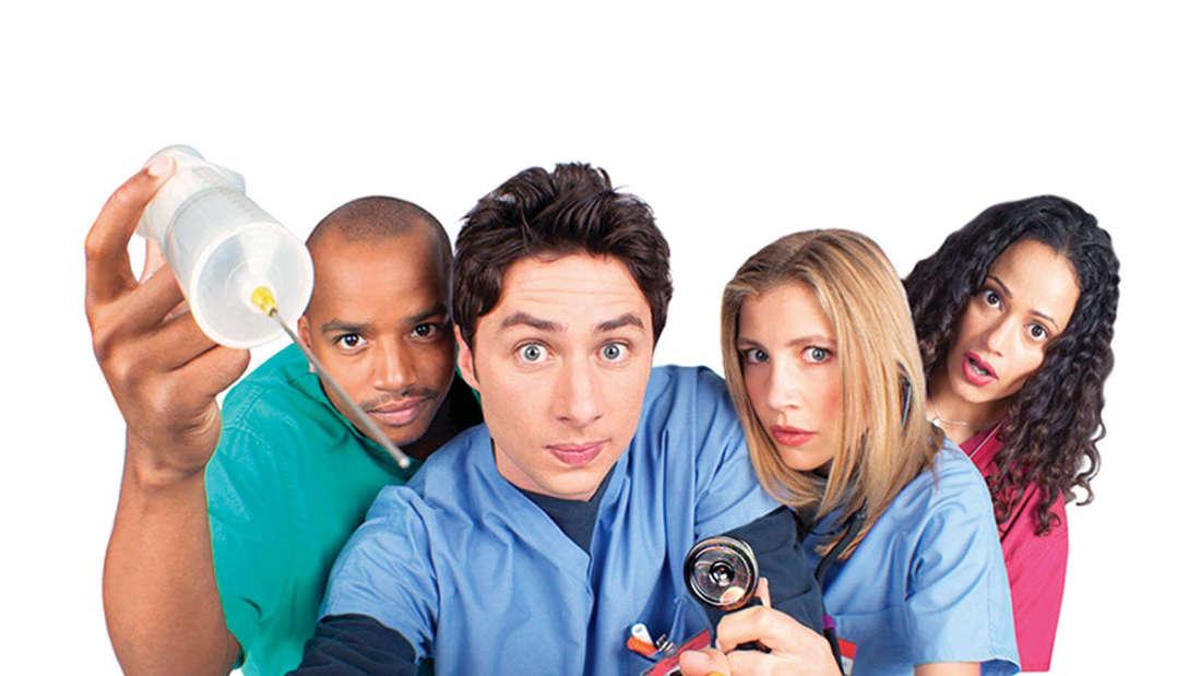 Einige Schauspieler in der ersten Folge von Scrubs