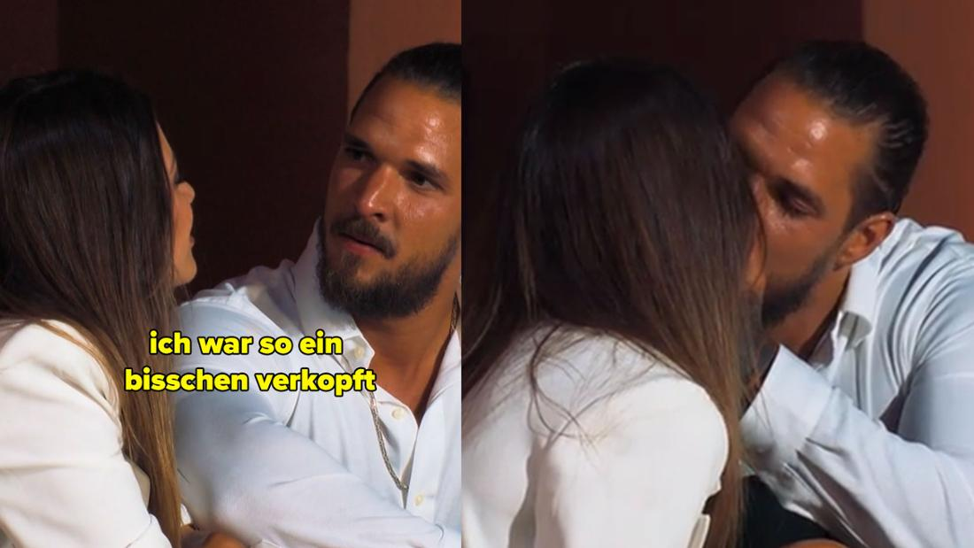 Maxime sagt zu Zico, sie sei zu verkopft gewesen. Daraufhin küsst er sie.