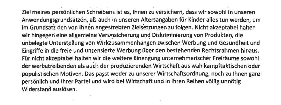 Sendet eine kaum verhohlene Warnung an die Ministerin: Der Vorsitzende des Werberats, Hans-Henning Wiegmann.