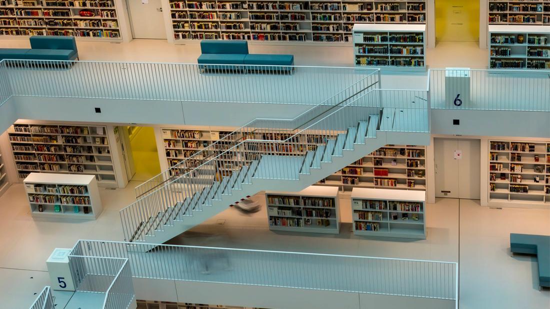 Die Stadtbibliothek in Stuttgart.