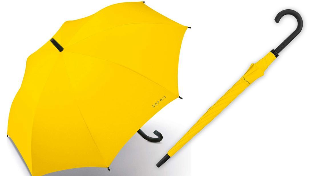 Knallgelber Regenschirm