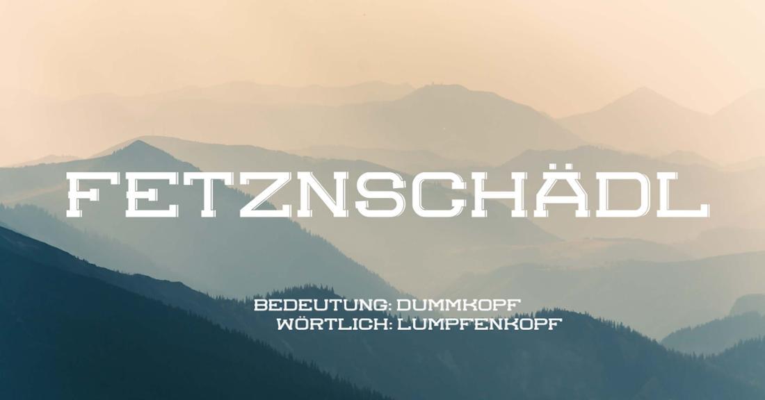 Fetznschädl vor nebliger Lanschaft