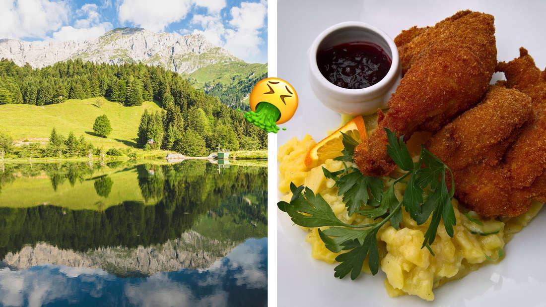 Karnische Alpen in Kärnten und Steirischer Backhendlsalat