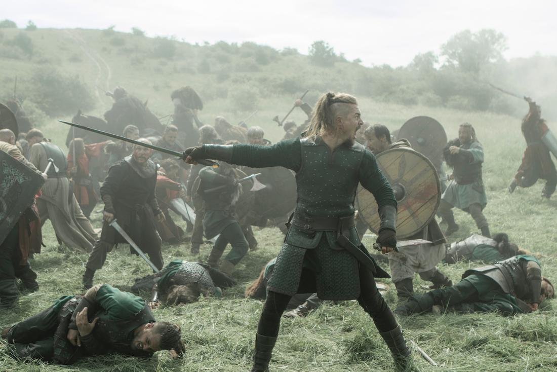 Eine Szene auf einem mittelalterlichen Schlachtfeld